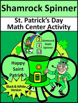St. Patrick's Day Game Activities: Shamrock Math Spinners