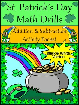 St. Patrick's Day Worksheets: St. Patrick's Day Math Drills