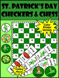 St. Patrick's Day Game Activities: St. Patrick's Day Checkers & Chess Games