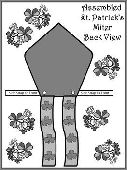 St. Patrick's Day Art Activities: Saint Patrick's Miter Craft Activity