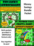 St. Patrick's Day ELA: Ten Lucky Leprechauns -St. Patrick's Day Crafts Bundle BW