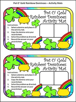 St. Patrick's Day Games Activities: Pot of Gold Dominoes Math Center Activity