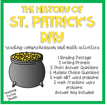 St. Patrick's Day Reading Passage and Math Practice