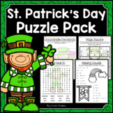 St. Patrick's Day Activities - Math & Literacy Puzzles | E