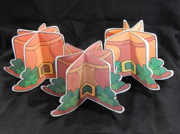 St. Patrick's Day Activities: 3D Leprechaun Hat Craft Activity Packet