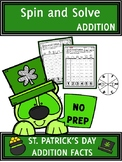 St. Patrick's Day Activities Addition Spin and Solve Math Centers