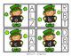 St. Patrick's Alphabet Matching Clip Cards Preschool
