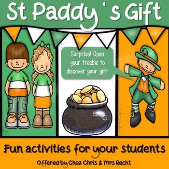 St Patrick's Day Activities Freebie