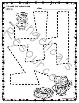 St. Patrick's Day Activities : Tracing - Fine Motor Skills - Just Print & Go!