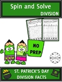 St. Patrick's Day Activities Division Spin and Solve Math Centers