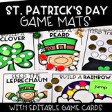 St. Patrick's Day Activities   Editable Content Game Mats