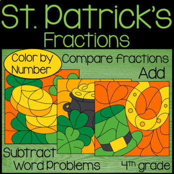 St. Patrick's Day Math Activities - Fractions