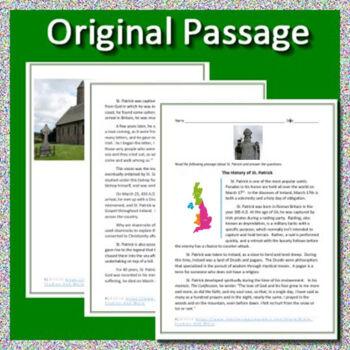 St. Patrick's Day Activities: Legend of Saint Patrick Activity Packet