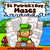 St. Patrick's Day Activities Mazes Problem Solving Worksheets Executive Function