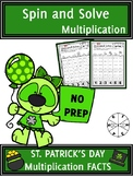 St. Patrick's Day Activities Multiplication Spin and Solve
