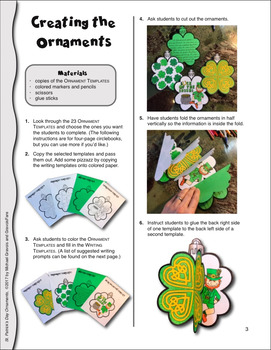 St. Patrick's Day Writing and Art Project - Craftivity