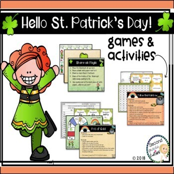 St. Patrick's Day Activities Reading, Writing, Math, and Craftivity too