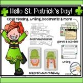 St. Patrick's Day & Ireland Activities Reading, Writing, Math, & Craftivity too