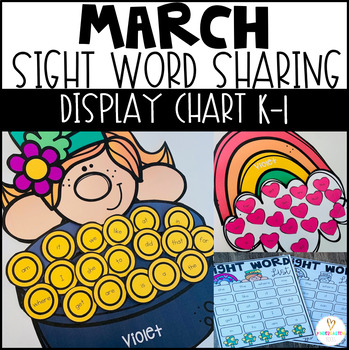 St. Patrick's Day Activities Sight Word Display Chart {EDITABLE} Spring