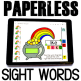 Google Classroom™ Activities Reading sight words (St Patrick's Day)