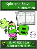 St. Patrick's Day Activities Subtraction Spin and Solve Ma
