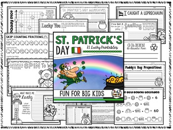 St. Patrick's Day Activities and Printables for Math, ELA