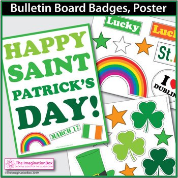 St. Patrick's Day Backpack Art and Writing Activity
