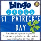 St. Patrick's Day ESL Activities Bingo Cards