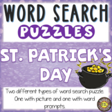 St. Patrick's Day ESL/ELL Activity Word Search Puzzles