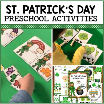 St. Patrick's Day Activities for Preschool, Pre-k and Tots
