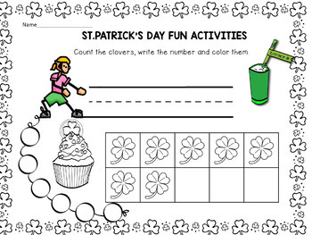 St. Patrick's Day  with Reading Comprehension, Math, and Coloring Fun Activities
