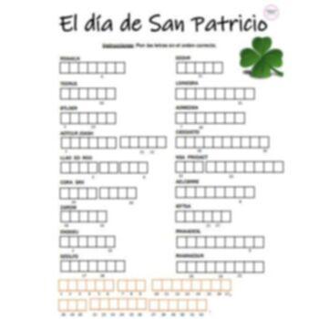 St. Patrick's Day Activities for Spanish Class (el Dia de San Patricio)