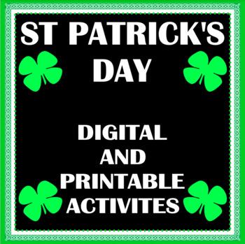 St. Patrick's Day Activity Bundle (Digital and Printable) Google Classroom Ready
