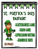 St. Patrick's Day Activity Bundle: Games, Math and Writing Activities