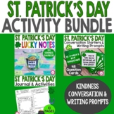 St. Patrick's Day Activity Bundle | Writing Prompts and Ki