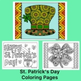 St. Patrick's Day Activity- Coloring Pages