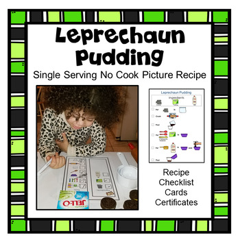 St. Patrick's Activity Cooking Picture Recipe Visual Recipe Single Serving