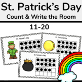 St. Patrick's Day Math Activity: Count and Write the Room 11-20
