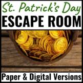 St. Patrick's Day Activity - Escape Room