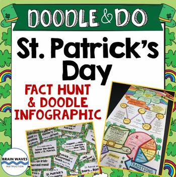 St. Patrick's Day Activity - Fact Hunt and Doodle Infographic