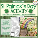 St. Patrick's Day Activity, Figurative Language, Color by Number