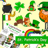 St. Patrick's Day Activity Fun! Clipart & puppet