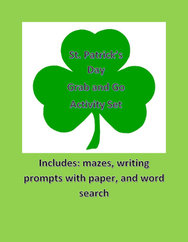 St. Patrick's Day Activity Grab and Go