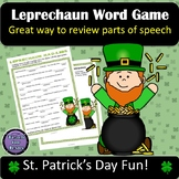 St Patrick's Day Activity | Leprechaun Fill in the Blanks Word Game