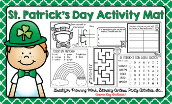 St. Patrick's Day Activity Mat - A Page FULL Of St. Patric