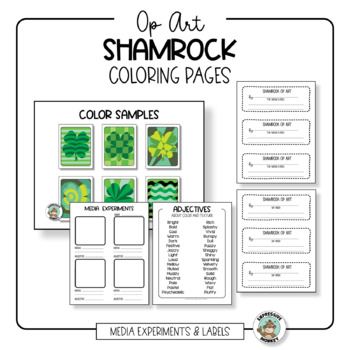 St. Patrick's Day Craft: Shamrock Op Art Coloring Pages
