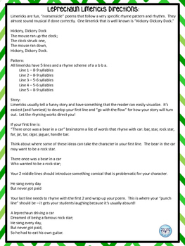 St. Patrick's Day Activity Pack for Upper Elementary