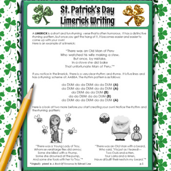 St.Patrick's Day Activities: Crossword, Word Search, Limerick, Poem