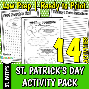 St. Patrick's Day Activity Packet for Elementary Students