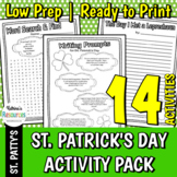 St. Patrick's Day Printable Activities for Elementary Students